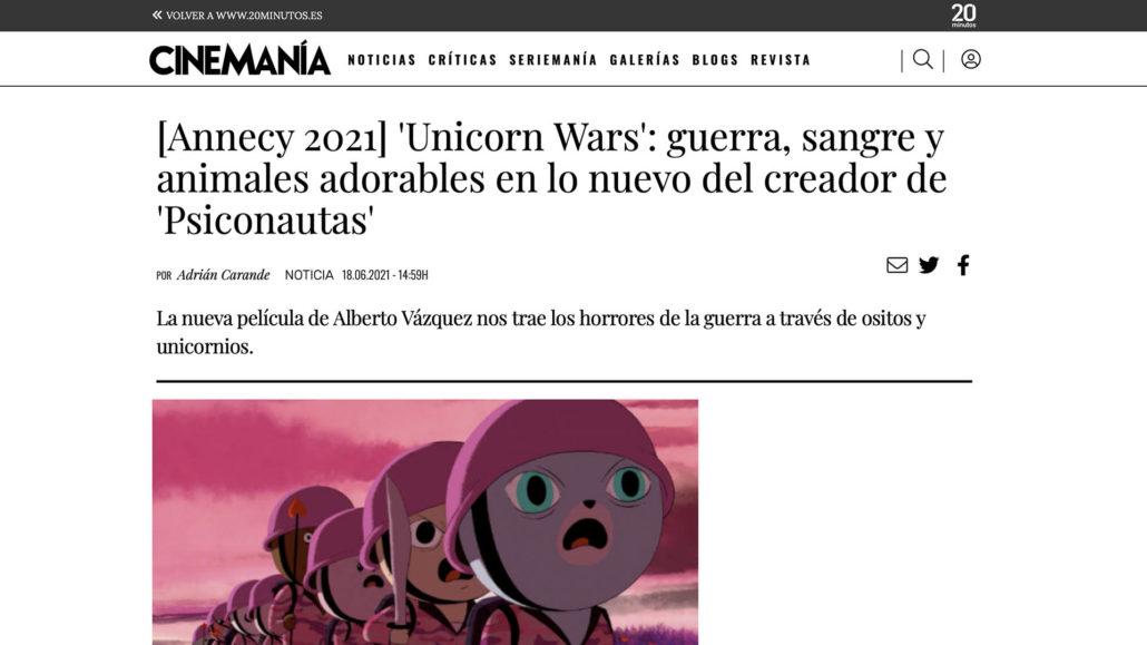 Abano Producións - Noticia Unicorn Wars